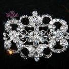 LOT OF 3 RHINESTONE CRYSTAL BRIDAL WEDDING DRESS SASH RIBBON BROOCH PIN