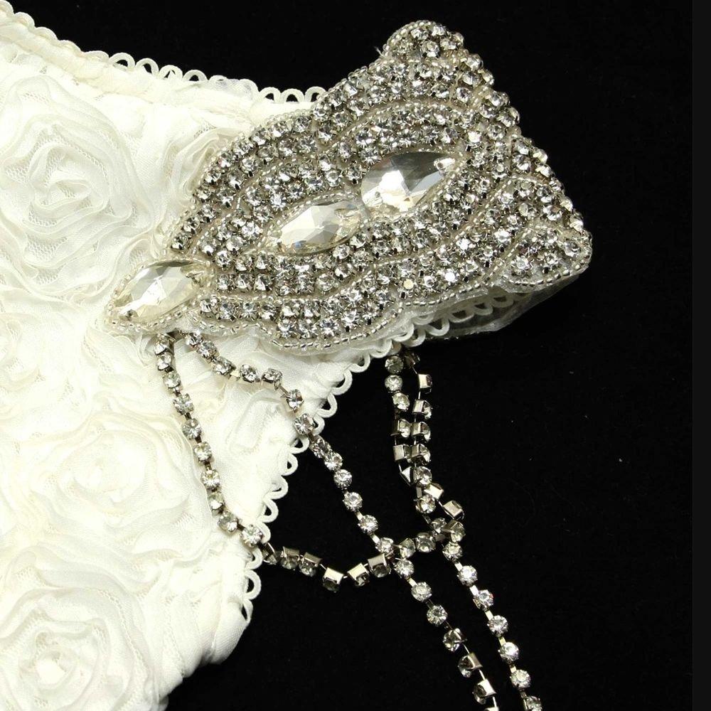 GROOM/BRIDE WEDDING SHOULDER RHINESTONE CRYSTAL NECKLACE EPAILETTES PIN/APPLIQUE