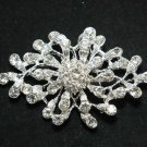 VINTAGE STYLE RHINESTONE CRYSTAL SILVER WEDDING BRIDAL CRAFT BROOCH PIN