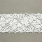 WEDDING CRAFT EMBROIDERY FLOWER PATTERN WHITE LACE TRIM 2 YARD