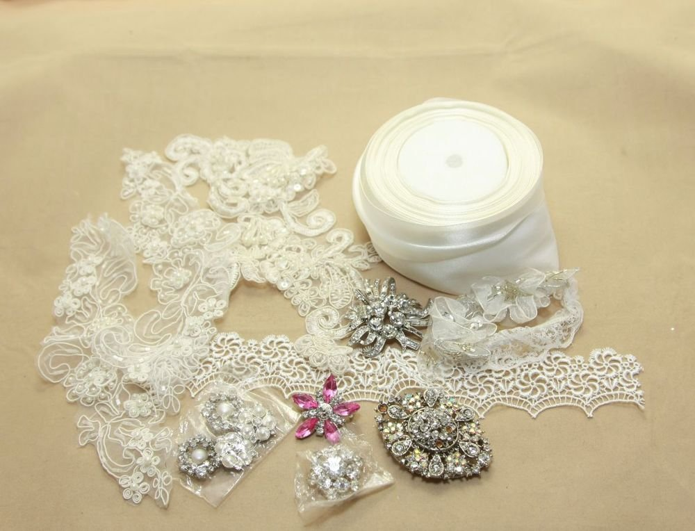 CRAFT DIY LACE BROOCH BUTTON BUCKLE APPLIQUE HANDMADE MATERIALS PACKAGE PACK