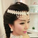 HANDCRAFT LACE APPLIQUE IVORY WEDDING GOTH EVENING DRESS NECKLACE HAIR CHAIN