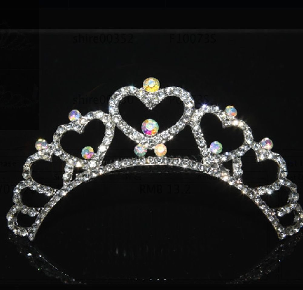 WEDDING BRIDAL AURORA RHINESTONE CRYSTAL VICTORIAN CROWN COMB