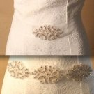 BRIDESMAIDS BRIDAL WEDDING DRESS BEADED CRYSTAL APPLIQUE RHINESTONE SASH BELT