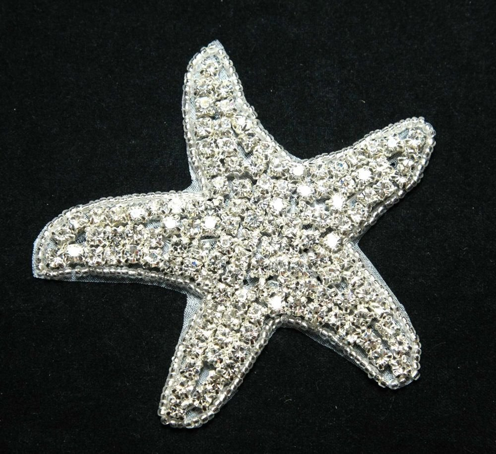 CHRISTMAS BEACH SEA STAR STARFISH CRYSTAL RHINESTONE WEDDING HAIR SHOES APPLIQUE