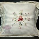 Floral Victorian Embroidery Lace Cushion Pillow Case Covers 2 Pieces