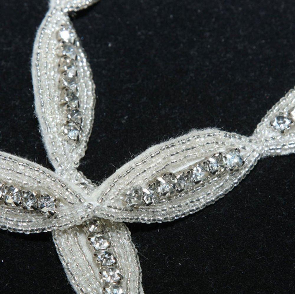 Crystal Rhinestone Wedding Decoration Dress Sash Jewellery DIY Trim 1/3 YARD