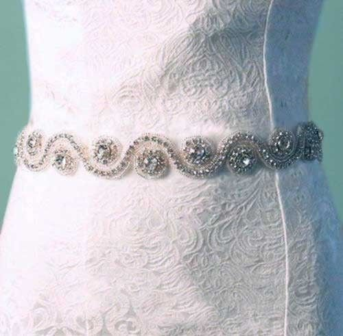 WHITE (OTHER COLOR) SATIN RIBBON CRYSTAL RHINESTONE WEDDING SASH BELT 3 YARDS