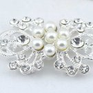 PEARL FLOWER WEDDING SWEATER BUCKLE BUTTON HOOK CLOSURE CLASP