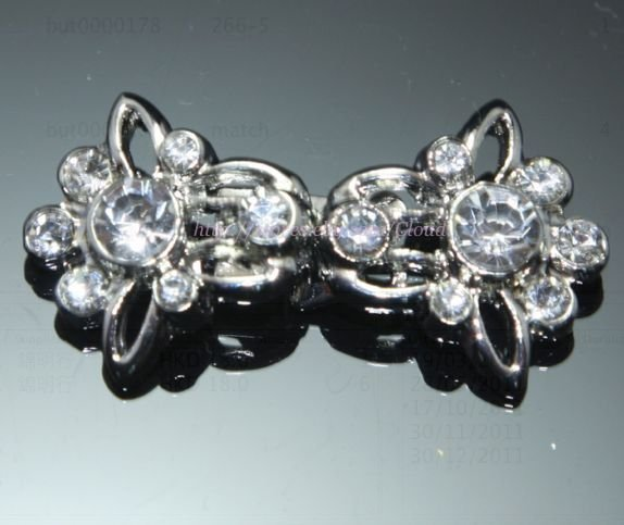 MINI RHINESTONE CRYSTAL WEDDING SHRUG BUCKLE SASH CLOSURE HOOK BUTTON CLASP
