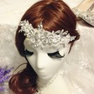 FEATHER LACE HAIR CLIP,BRIDAL HAIR CLIP,WEDDING HAIR CLIP,FLORAL CLIP,HAIR CLIP