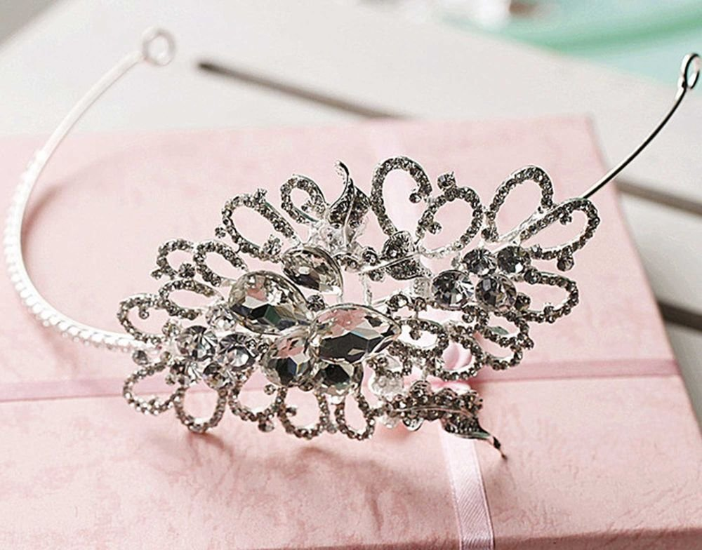 WEDDING BRIDAL RHINESTONE CRYSTAL VINTAGE FOREHEAD CROWN HAIR HEADBAND TIARA
