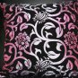 Purple/Gold Tone/Red Floral Cushion Pillow Case Covers 2 Pieces