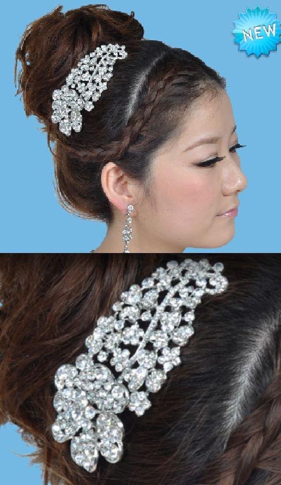 Victorian Vintage Style Floral Rhinestone Crystal Wedding Bridal Hair Comb