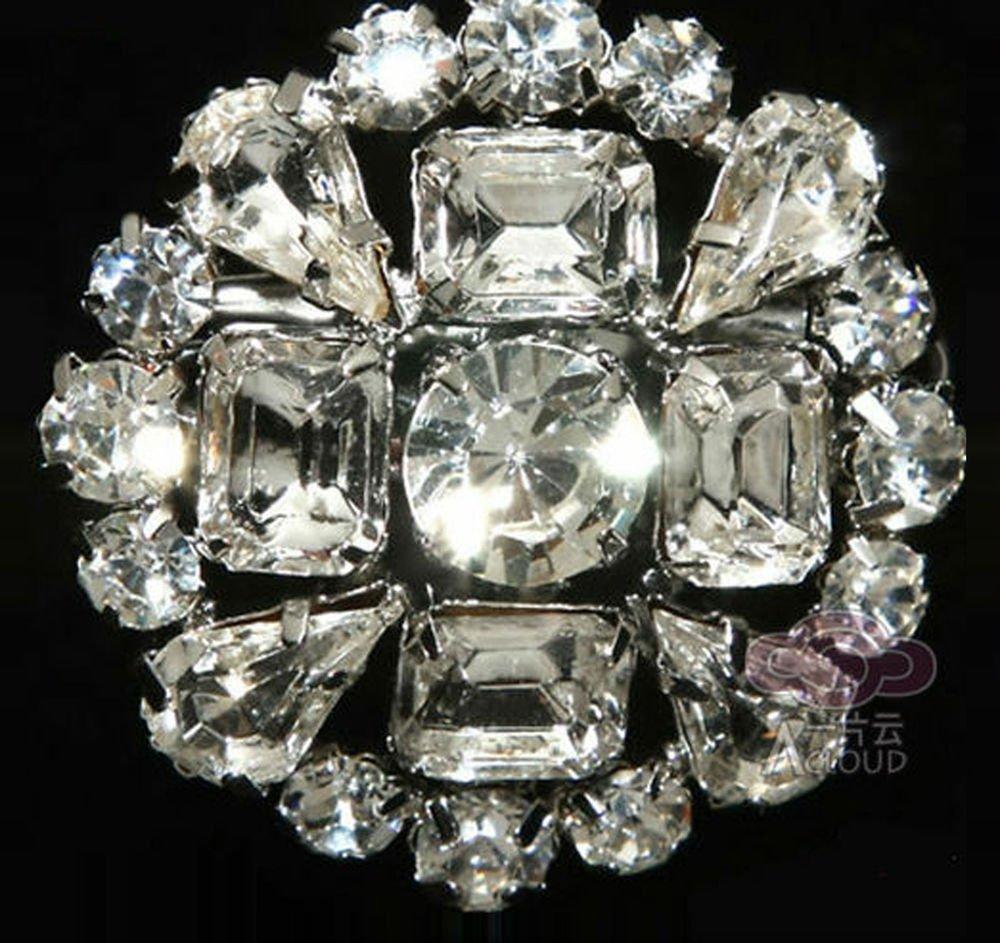 Baguette Tear Drop Rhinestone Crystal Wedding Bridal Alloy Brooch Pin