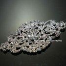 Classic Vintage Style Motif Rhinestone Crystal Wedding Bridal Ribbon Belt Buckle