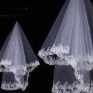 1 piece WEDDING BRIDAL BRIDES IVORY LACE HARD ORGANZA LACE TULLE VEIL 1 Tier