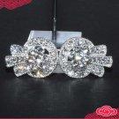 Rhinestone Crystal Wedding Bridal Sash Belt Closure Hook and Eye Clasp DIY
