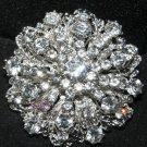Lot of 2 Vintage Style Wedding Rhinestone Crystal Large Round Shank Buttons DIY