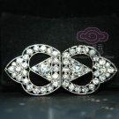 Rhinestone Crystal Wedding Bridal Ribbon Wrap Closure Hook and Eye Clasp DIY