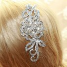 Swarovski Pearl Rhinestone Crystal Wedding Rose Flower Hair Comb