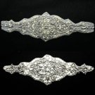Mixed Of 2 Beaded Glass Crystal Rhinestone Wedding Craft Sash Belt Appliques