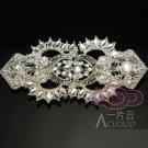 Large Wedding Bridal Rhinestone Crystal Belt Buckle Pendant/Hook and Eye Clasp