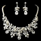 Wedding Bridal Rhinestone Crystal High-End Faux Pearl Jewelry Set