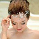 Wedding Bridal Flower Rhinestone Crystal Hair Forehead Crown Tiara Vines