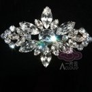 LOT OF 3 RHINESTONE CRYSTAL BRIDAL WEDDING DRESS VINTAGE STYLE GLASS BROOCH PIN