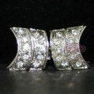 Rhinestone Crystal Wedding Bridal Sash Shrug Shawl Closure Hook and Eye Clasp