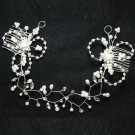 Wedding Bridal Rhinestone Crystal Pearl Rose Flower Crown Tiara Headband Comb