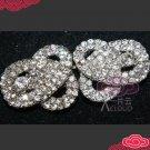 Rhinestone Crystal Ribbon Shape Wedding Bridal Closure Hook and Eye Clasp DIY