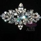 Marquise Clear Rhinestone Crystal Rhombus Wedding Bridal Brooch Pin