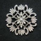 Wedding Bridal Rhinestone Crystal Dress Cake Decoration Brooch Pin