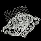 Lot of 4 Wedding Bridal Rhombus Vintage Style Rhinestone Crystal Hair Combs
