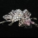 Lot of 3 Flower Butterfly Bow Rhinestone Crystal Bridal Hook and Eye Clasp DIY
