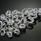 VICTORIAN BRIDAL WEDDING BRIDE RHINESTONE CRYSTAL HAIR COMB - CA