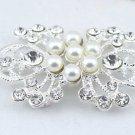 Flower Wedding Bridal Rhinestone Crystal Faux Pearl Closure Hook and Eye Clasp