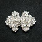 Romantic Rose Flower Rhinestone Crystal Ribbon DIY Closure Hook and Eye Clasp