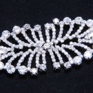 Vintage Style Rhinestone Crystal Sweater Ribbon Sash Closure Hook and Eye Clasp