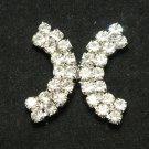 Arc Cross Rhinestone Crystal Wedding Bridal Belt Closure Hook and Eye Clasp DIY