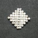 Simple Classic Rhombus Rhinestone Crystal Wedding Closure Hook and Eye Clasp DIY