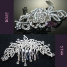 Mixed Of 2 Wedding Bridal Victorian Style Rhinestone Crystal Tiara Hair Combs