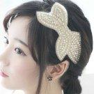 Rhinestone Crystal Wedding Bridal Bow Hair Headpiece Applique Hair Clip