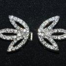 Rhinestone Crystal Leaves Petals Wedding Bridal Wrap Closure Hook and Eye Clasp