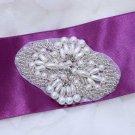Lot of 2 Crystal Rhinestone Beaded Faux Pearl Wedding Bridal Garter Set Applique