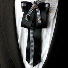 Black Rococo Men Knot Wedding Party Ascot Cravat Bow Necktie Neck Tie