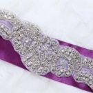 "15.4"" Long Wings Motif Rhinestone Crystal Wedding Bridal Ribbon Belt Applique"