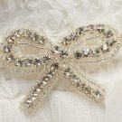 A Pair Ribbon Bow Rhinestone Crystal Wedding Bridal Sandal High-Heel Shoe Clips